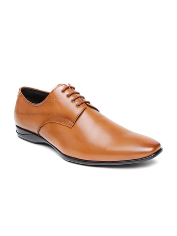 Arrow Men Brown Barnet Square-Toed Derby Shoes