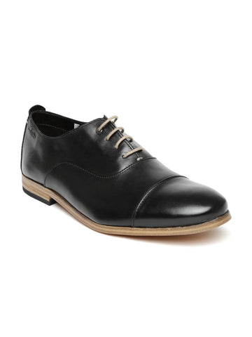 Clarks Men Black Leather Oxford Shoes