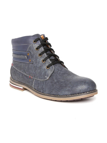 San Frissco Men Blue Textured Casual Shoes