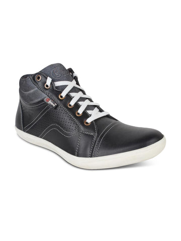 Guava Black Leather Casual Shoes