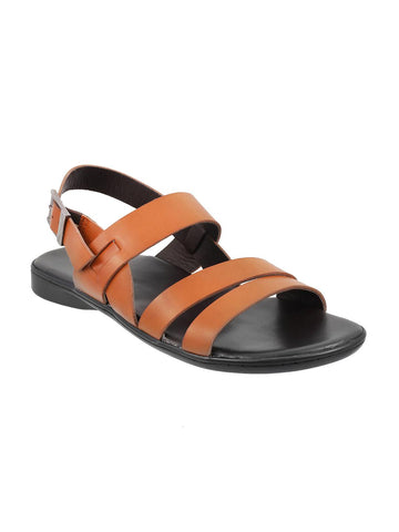 Metro Men Tan Brown Sandals