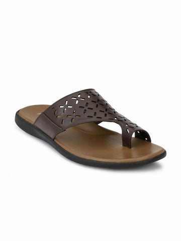 Fentacia Men Brown Comfort Sandals