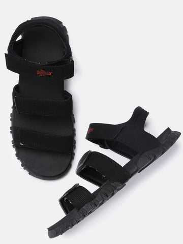 Roadster Men Black Sports Sandals