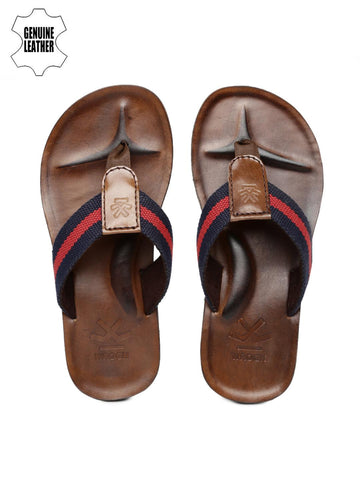 WROGN Men Navy & Red Striped Sandals