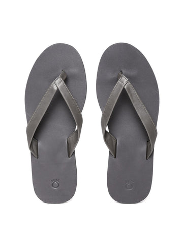 United Colors of Benetton Men Taupe Flip-Flops