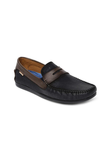 U.S. Polo Assn. Men Black Leather Amore Loafers