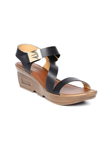 Wet Blue Women Black Wedges