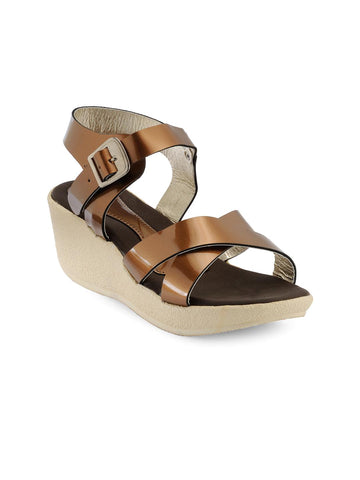Nell Women Copper-Toned Solid Wedges