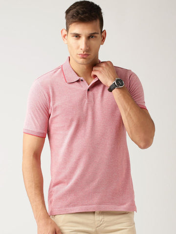 ETHER Pink Polo T-shirt