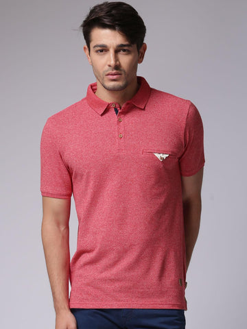 True Blue Men Red Polo T-Shirt