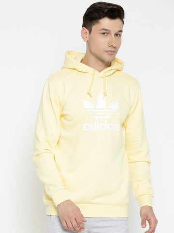 Adidas Originals Yellow TREFOIL HOODY Printed Sweatshirt