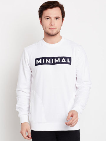 Solly Sport Men White Printed Sweatshirt
