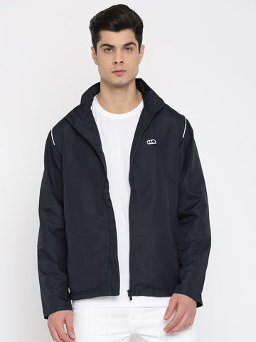 Ajile by Pantaloons Men Navy Blue Solid Sporty Jacket