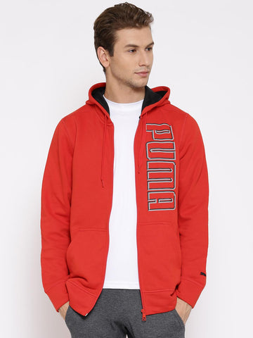 PUMA Red Hooded Sweatshirt