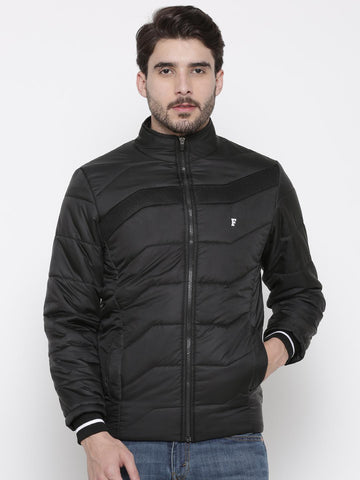 French Connection Men Black Solid Puffer Jacket