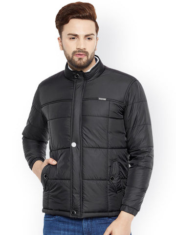 Canary London Men Black Solid Lightweight Quilted Jacket