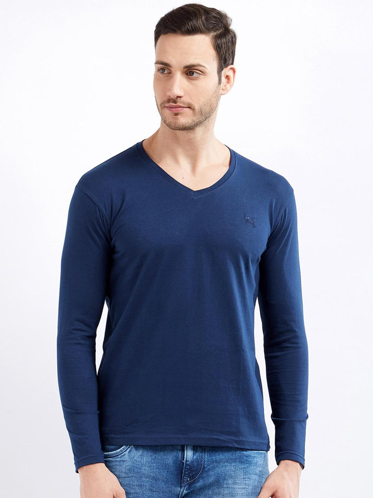 0a884ee6926 Maniac Men Navy Blue Solid V-Neck T-shirt – similar recommendations
