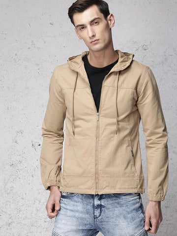 Ecko Unltd Men Khaki Solid Tailored Jacket