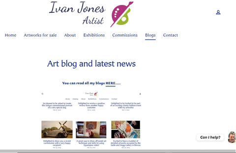 Ivan Jones screenshot latest news page