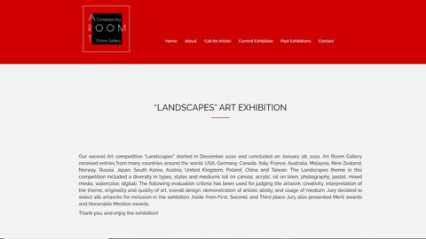 Art Room online art gallery Landscapes Feb 2021