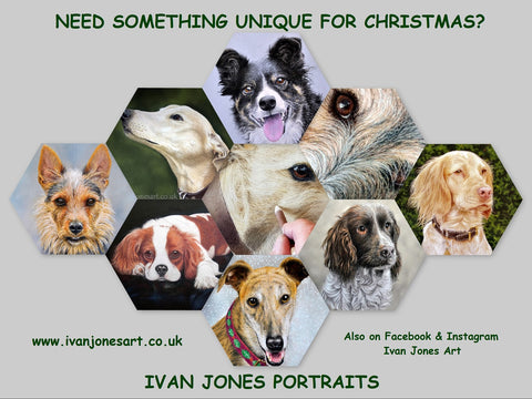 Ivan Jones pastel artist pet portrait commission draft 1