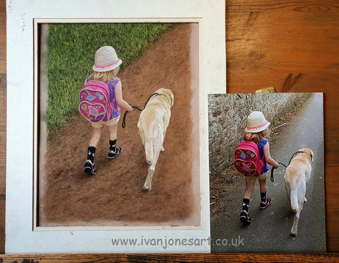 Portrait commission and reference photo Ivan Jones pastel artist