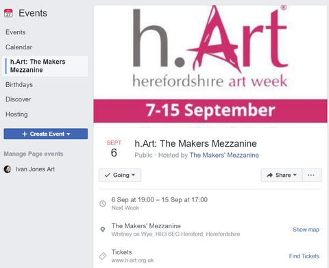H-art 2019 Makers Mezzanine HR3 Ivan Jones pastel artist exhibition
