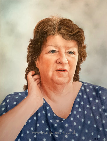 Heather completed portrait commission in pastel