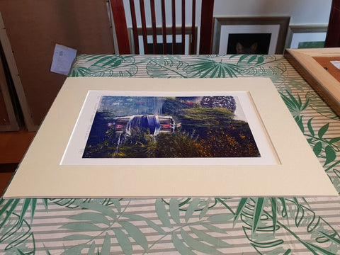 Side view of mounted A4 giclee prints from Ivan Jones pastel artist