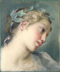 """A Muse"" 1725 in pastel by Rosalba Carriera"