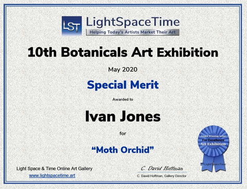 Award of special merit to Ivan Jones pastel artist