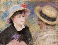 The Boating Couple, Pastel, 1881, Renoir