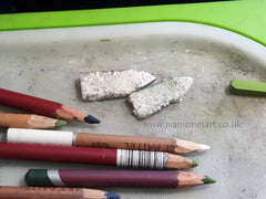 Polystyrene shaped for blending pastel