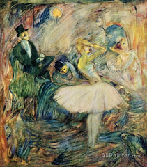 henri-de-toulouse-lautrec-the-dancer-in-her-dressing-room-pastel painting