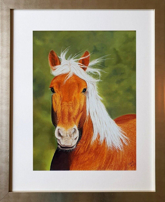 Can I be your pony. Framed. Ivan Jones pastel artist