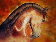 Ladda upp bild till gallerivisning, Fiery Chestnut - Arab horse profile on striking background