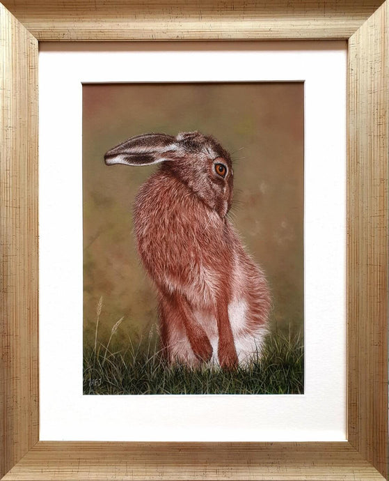 Don't be shy. Pastel painting in frame. Ivan Jones artist