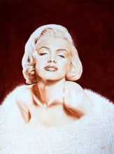 Load image into Gallery viewer, Norma Jean in sepia Pastel portrait of Marilyn Monroe Ivan Jones artist