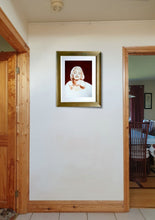 Load image into Gallery viewer, Norma Jean in sepia framed on wall. Pastel portrait of Marilyn Monroe Ivan Jones artist