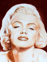Load image into Gallery viewer, Norma Jean in sepia, face. Pastel portrait of Marilyn Monroe Ivan Jones artist