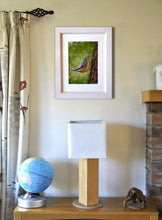 Charger l'image dans la galerie, Nuthatch perching Framed on wall Ivan Jones pastel artist