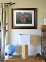 Lade das Bild in den Galerie-Viewer, Running hare Framed on wall Ivan Jones pastel artist