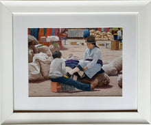 Lade das Bild in den Galerie-Viewer, Shoeshine boy framed Ivan Jones pastel artist