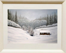 Ladda upp bild till gallerivisning, Snow in the valley framed Ivan Jones pastel artist