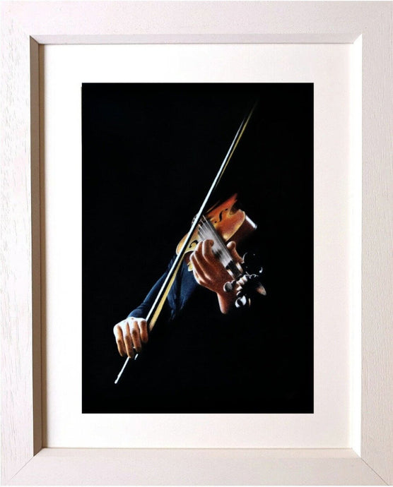 Virtuoso violinist framed Ivan Jones pastel artist