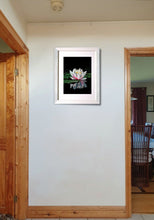 Lade das Bild in den Galerie-Viewer, Waterlily reflections. Framed on wall. Ivan Jones Pastel Artist