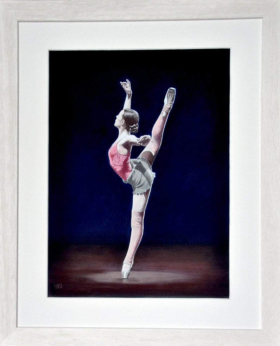 Practice session of a ballerina. In frame. Ivan Jones Pastel Artist