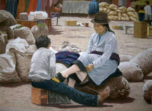 Lade das Bild in den Galerie-Viewer, Shoeshine boy in an Ecuadorian market. Ivan Jones Pastel Artist
