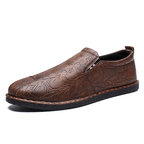 Loafers Shoes Leather Comfortable Flats Mens Casual Shoe