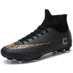 High Ankle Men's Training Soccer Shoes Outdoor Cleats Spike Men Football Boot